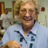 Shirley McKinney, Harrah United Methodist Church member, shows off the homemade pie she chose to accompany her meal at the 2005 version of the church\'s annual Thanksgiving Dinner. The community is invited to this year\'s dinner on Saturday, Nov. 11, from 4-7 pm. Meals may be purchased for eat-in or to take-out. Community Photo By: Lin Archer Submitted By: Lin, Harrah