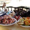 THANKSGIVING MORNING....The spread at the gazebo at Kite Park. (Photo by Helen Ford Wallace).