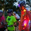 Mike O\'Meara, of Edmond, Okla., right, talks with other cyclists before the Full Moon Bicycle Ride organized by the Myriad Gardens and Schlegel Bicycles in Oklahoma City, Monday, July 22, 2013. Photo by Nate Billings, The Oklahoman