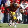 Oklahoma\'s Brennan Clay (24) runs past Iowa State\'s Jacques Washington (10) for a touchdown during a college football game between the University of Oklahoma (OU) and Iowa State University (ISU) at Jack Trice Stadium in Ames, Iowa, Saturday, Nov. 3, 2012. Oklahoma won 35-20. Photo by Bryan Terry, The Oklahoman