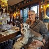 Wayne Fawcett and his dog Pepper pose for a photo in his antique decorated home in the Mesta Park Neighborhood on Wednesday, Nov. 16, 2011. in Oklahoma City, Okla.. Photo by Chris Landsberger, The Oklahoman