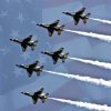 USAF Thunderbirds Fly Over Midwest City on Sunday