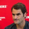 Photo - Roger Federer, of Switzerland, addresses media during a news conference at the Rogers Cup tennis tournament in Toronto on Sunday, Aug. 3, 2014. (AP Photo/The Canadian Press, Victor Biro)