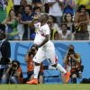 Photo - Costa Rica's Joel Campbell celebrates scoring his side's first goal during the group D World Cup soccer match between Uruguay and Costa Rica at the Arena Castelao in Fortaleza, Brazil, Saturday, June 14, 2014.  (AP Photo/Christophe Ena)