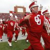 The Pride of Oklahoma Band take the field before the first half of the college football game between the University of Oklahoma Sooners (OU) and the Oklahoma State University Cowboys (OSU) at the Gaylord Family-Memorial Stadium on Saturday, Nov. 24, 2007, in Norman, Okla. Photo By CHRIS LANDSBERGER, The Oklahoman