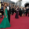 Viola Davis, left, and Julius Tennon arrive before the 84th Academy Awards on Sunday, Feb. 26, 2012, in the Hollywood section of Los Angeles. (AP Photo/Matt Sayles) ORG XMIT: OSC137