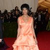 """Solange Knowles attends The Metropolitan Museum of Art\'s Costume Institute benefit gala celebrating """"Charles James: Beyond Fashion"""" on Monday, May 5, 2014, in New York. (Photo by Evan Agostini/Invision/AP)"""