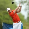 Photo - Oklahoma State's Wyndham Clark tees off on the seventh hole during the third round of the NCAA national championship Monday, May 26, 2014 at Prairie Dunes Country Club in Hutchinson, Kan. (AP Photo/The Hutchinson News, Travis Morisse)