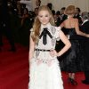 """Chloe Grace Moretz attends The Metropolitan Museum of Art\'s Costume Institute benefit gala celebrating """"Charles James: Beyond Fashion"""" on Monday, May 5, 2014, in New York. (Photo by Evan Agostini/Invision/AP)"""