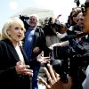 Arizona Gov. Jan Brewer speaks to reporters outside the Supreme Court in Washington, Wednesday, April 25, 2012, after the court\'s hearing on Arizona\'s