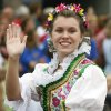 Christy Kessler waves during the Czech Festival parade in Yukon, Okla., on Saturday, Oct. 6, 2007. By James Plumlee, The Oklahoman.