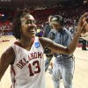 Photo - WOMEN'S COLLEGE BASKETBALL / WOMEN'S NCAA TOURNAMENT: Danielle Robinson (13) leaves the court as the University of Oklahoma (OU) Sooners defeat the University of Arkansas Little Rock (UALR) Trojans 60-44 in the 2010 NCAA Division I Women's Basketball Championship tournament second round game at the Lloyd Noble Center on Tuesday, March 23, 2010, in Norman, Okla.   Photo by Steve Sisney, The Oklahoman ORG XMIT: KOD