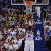 Oklahoma City\'s Kevin Durant (35) hangs on the net during a timeout in Game 5 in the second round of the NBA playoffs between the Oklahoma City Thunder and the Memphis Grizzlies at Chesapeake Energy Arena in Oklahoma City, Wednesday, May 15, 2013. Memphis won 88-84. Photo by Bryan Terry, The Oklahoman