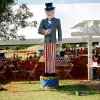 A statue of Uncle Sam greets visitors to dinner under a tent during the Yukon Freedom Fest in Yukon, Oklahoma on Sunday, July 3, 2011. Photo by John Clanton, The Oklahoman