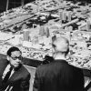 "Photo - Architect and urban planner I.M. Pei discusses his plans for a ""new"" downtown Oklahoma City at the unveiling of the Pei Plan model at the Skirvin Tower on Dec. 10, 1964.Oklahoman ArchivE photo"