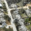 FIRES / WILDFIRES / HOUSE / DAMAGE/ AFTERMATH / AERIAL: Fire destroyed a number of homes in this neighborhood near Anderson Road and SE 15th Street in Choctaw, OK, Friday, April 10, 2009. BY PAUL HELLSTERN, THE OKLAHOMAN ORG XMIT: KOD