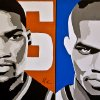 Thunder stars Kevin Durant, left, and Russell Westbrook are hungry for a championship after losing to Miami in the NBA Finals. Oklahoma City opens the season Nov. 1 at San Antonio.Art by Ray Tennyson/photo by chris landsberger