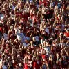 Fans cheer during the college football game between the University of Oklahoma Sooners (OU) and Florida A&M Rattlers at Gaylord Family—Oklahoma Memorial Stadium in Norman, Okla., Saturday, Sept. 8, 2012. Photo by Bryan Terry, The Oklahoman