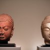 Photo - Buddha Heads from Northern China (534-550 bc), right, and from Northern India, fifth century are displayed as part of the exhibition