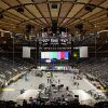 "Photo - Workers prepare Madison Square Garden for the ""12-12-12"" concert whose proceeds will aid the victims of Superstorm Sandy, Tuesday, Dec. 11, 2012, in New York. The Dec. 12 concert will feature artists Bon Jovi, Eric Clapton, Dave Grohl, Billy Joel, Alicia Keys, Chris Martin, The Rolling Stones, Bruce Springsteen & the E Street Band, Eddie Vedder, Roger Waters, Kanye West, The Who and Paul McCartney. (AP Photo/John Minchillo)"