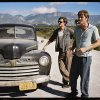 This undated publicity film image released by IFC Films/Sundance Selects shows Sam Riley, left, as Sal Paradise/Jack Kerouac and Garrett Hedlund, right, as Dean Moriarity/Neal Cassady in a scene from the film,