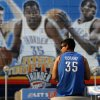 Jose Hernandez of Oklahoma City waits outside the Oklahoma City Arena before the NBA basketball game between the Denver Nuggets and the Oklahoma City Thunder in the first round of the NBA playoffs at the Oklahoma City Arena, Sunday, April 17, 2011. Photo by Bryan Terry, The Oklahoman