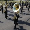 Members of the Midwest City Bomber Band march in a Veterans Day parade on SE 15th St. in Midwest City, OK, Monday, November 11, 2013, Photo by Paul Hellstern, The Oklahoman