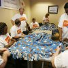 McKesson employees prepare care packages for veterans as part of McKesson Corporation\'s 10th Annual Community Days volunteer program at the facility in Oklahoma City, OK, Thursday, April 23, 2009. BY PAUL HELLSTERN, THE OKLAHOMAN