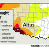 Photo - This image shows the parts of Oklahoma at highest risk of drought, according to the U.S. Drought Monitor.