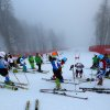 Photo - Skiers stand on the alpine skiing training slopes in the fog at the Sochi 2014 Winter Olympics, Monday, Feb. 17, 2014, in Krasnaya Polyana, Russia. (AP Photo/Alessandro Trovati)