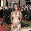 Viola Davis channeled old Hollywood glamour in a Reem Acra metallic halter gown.AP PHOTO