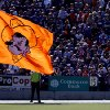 The Oklahoma State Cowboy\'s flag waves in front of the Kansas State fans after a Cowboy\'s touchdown during the first half of the college football game between the Oklahoma State University Cowboys (OSU) and the Kansas State University Wildcats (KSU) on Saturday, Oct. 30, 2010, in Manhattan, Kan. Photo by Chris Landsberger, The Oklahoman