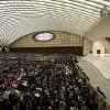 Pope Benedict XVI leads his weekly general audience at the Paul VI Hall at the Vatican, Wednesday Feb. 13, 2013. Looking tired but serene, Pope Benedict XVI told thousands of faithful Wednesday that he was stepping down for