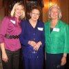 AFTERNOON TEA...Margo Ward, M.J. Van Deventer and Sandy Shapard were at the party. (Photo by Helen Ford Wallace).
