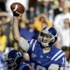 Photo -   Duke quarterback Sean Renfree throws a pass in the first quarter of an NCAA college football game against Georgia Tech, Saturday, Nov. 17, 2012, in Atlanta. (AP Photo/David Goldman)