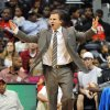 Photo - Oklahoma City Thunder head coach Scott Brooks yells during the third quarter of their game against the Atlanta Hawks in an NBA basketball game in Atlanta, Monday, Jan. 18, 2010.  The Thunder won 94-91. AP PHOTO