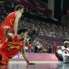 United States\' LeBron James picks up a loose ball in front of Spain\'s Pau Gasol and Rudy Fernandez during a men\'s gold medal basketball game at the 2012 Summer Olympics, Sunday, Aug. 12, 2012, in London. (AP Photo/Eric Gay)