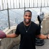 Photo -  Former Oklahoma University running back and top 2011 NFL Draft prospect DeMarco Murray visits the Empire State Building ahead of Thursday's Draft.