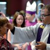 Father Jorge Gomez of Holy Family Church distributes ashes during Ash Wednesday services at the University of Texas at Brownsville and Texas Southmost College on Wednesday, Feb. 22, 2012 in Brownsville, Texas. The practice of placing ashes on one\'s forehead is a sign of repentance to God and today marks the beginning of the 40 day period of prayer and fasting. (AP Photo/The Brownsville Herald, Paul Chouy)