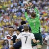 Photo - Germany's goalkeeper Manuel Neuer leaps to catch a lose ball during the World Cup quarterfinal soccer match between Germany and France at the Maracana Stadium in Rio de Janeiro, Brazil, Friday, July 4, 2014. (AP Photo/Kirsty Wigglesworth)