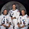 FILE - In this 1969 photo provided by NASA the crew of the Apollo 11 mission is seen. From left are Neil Armstrong, Mission Commander, Michael Collins, Lt. Col. USAF, and Edwin Eugene Aldrin, also known as Buzz Aldrin, USAF Lunar Module pilot. The family of Neil Armstrong, the first man to walk on the moon, says he has died at age 82. A statement from the family says he died following complications resulting from cardiovascular procedures. It doesn\'t say where he died. Armstrong commanded the Apollo 11 spacecraft that landed on the moon July 20, 1969. He radioed back to Earth the historic news of