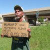 Roy Taylor panhandles for money near north Penn and the Kilpatrick Turnpike Tuesdat, May 19, 2009. Photo by Robert Medley, The Oklahoman