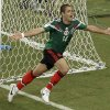 Photo - FILE - This is a Monday, June 23, 2014  file photo of Mexico's Javier Hernandez, as he  celebrates scoring his side's 3rd goal during the group A World Cup soccer match between Croatia and Mexico at the Arena Pernambuco in Recife, Brazil.   Real Madrid has signed Mexico striker Javier Hernandez on a season-long loan from Manchester United. Madrid announced the deal hours before the close of the summer transfer window on Monday Sept. 1, 2014.  (AP Photo/Hassan Ammar)