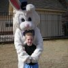 Ryan Reece and the Easter Bunny at the Oaktree Park Homeowner\'s Egg Hunt on 3/22/08 Community Photo By: pia allen Submitted By: michael, edmond