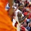 Iowa State guard Korie Lucious celebrates a basket during the second half of an NCAA college basketball game against Oklahoma State Wednesday, March 6, 2013, at Hilton Coliseum in Ames, Iowa. Iowa State won the game 87-76. (AP Photo/Justin Hayworth) ORG XMIT: IAJH107