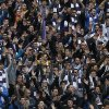 Photo - Real Madrid's fans sing during a Spanish La Liga soccer match between Real Madrid and Elche at the Santiago Bernabeu stadium in Madrid, Spain, Saturday, Feb. 22, 2014. (AP Photo/Andres Kudacki)