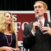 With his wife Cindy looking on, James Lankford speaks to supporters during a watch party at the Oklahoma Sports Hall of Fame in Oklahoma City on Tuesday, August 24, 2010. Photo by John Clanton, The Oklahoman