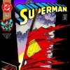 "Photo - The cover to the non-polybagged version of ""Superman"" No. 75. DC Comics. <strong></strong>"