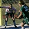 Bishop McGuinness goalie Elyse Hight directs her teammates during their game against Deer Creek at Deer Creek High School in Edmond on Tuesday, April 5, 2011. Photo by John Clanton, The Oklahoman