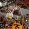 Oklahoma State\'s Kamari Murphy (21) dunks during the men\'s college basketball game between Oklahoma State University and Central Arkansas at Gallagher-Iba Arena in Stillwater, Okla., Sunday,Dec. 16, 2012. Photo by Sarah Phipps, The Oklahoman